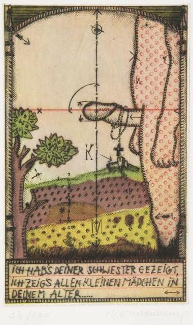 Johannes Vennekamp - Radierung 1971/72, Druckbild 18,8 x 11,7 cm, handsigniert kopen? Bied vanaf 148!
