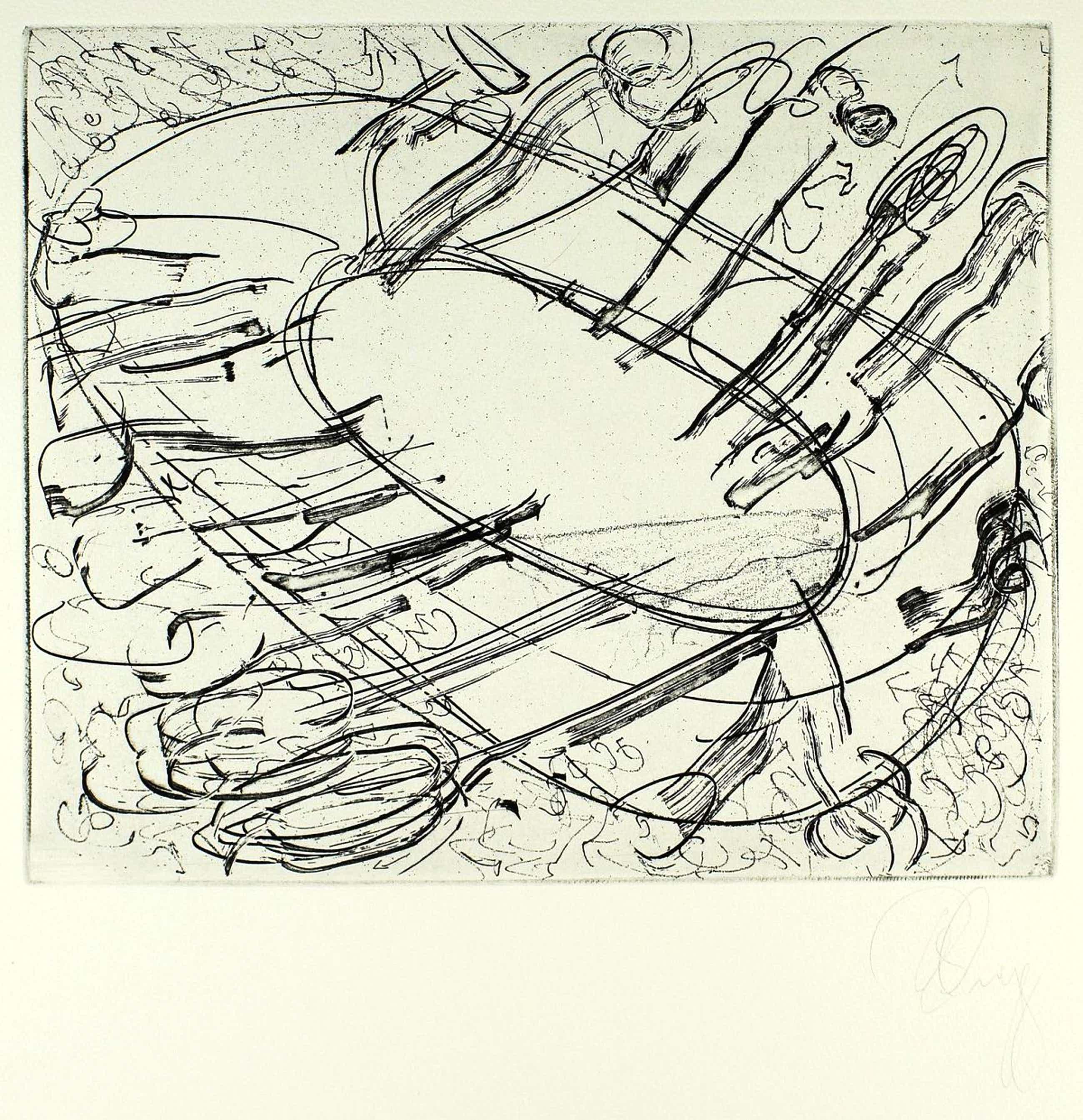 Tony Cragg - Radierung, handsigniert -Griffelkunst kopen? Bied vanaf 390!