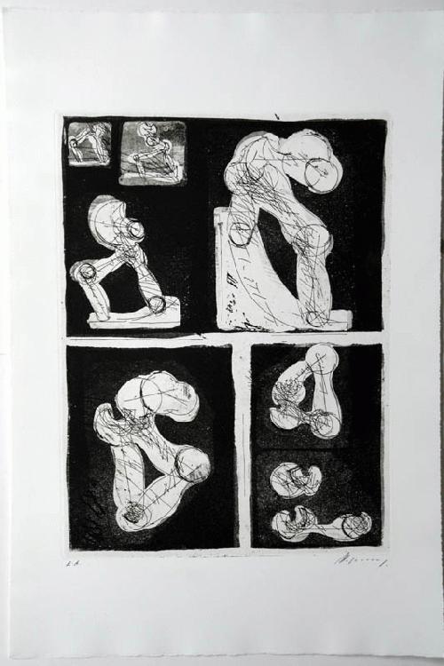 Rudolf Hoflehner - - RADIERUNG IV - Radierung auf Büttenpapier, handsigniert, mit E.A. bezeichnet, 1966 kopen? Bied vanaf 390!