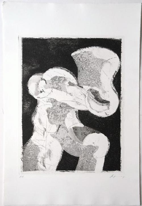 Rudolf Hoflehner - - RADIERUNG V - Radierung auf Büttenpapier, handsigniert, bezeichnet, 1966 kopen? Bied vanaf 390!