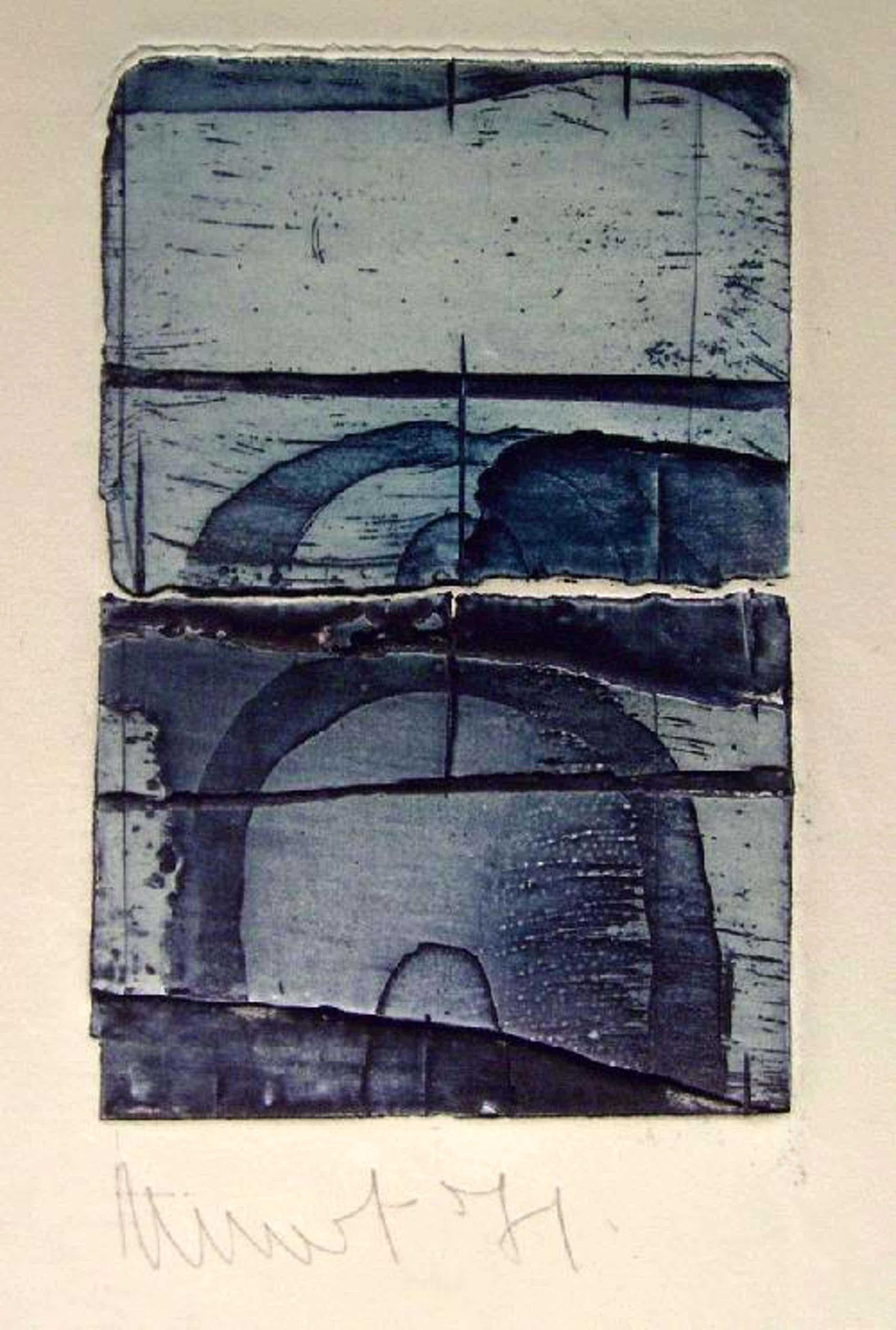 Niet of onleesbaar gesigneerd - Radierung von 1971, Blatt 16,5 x 25 cm, handsigniert: Minot (?) kopen? Bied vanaf 1!