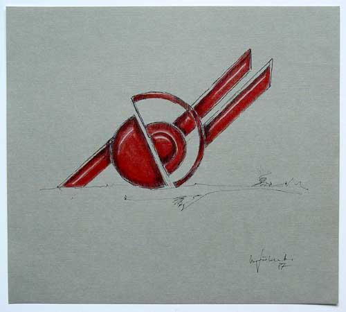 Wolfgang Göddertz - Raumverknotung 1 - handkolorierte Lithographie aus dem Jahr 1987 - handsigniert kopen? Bied vanaf 50!