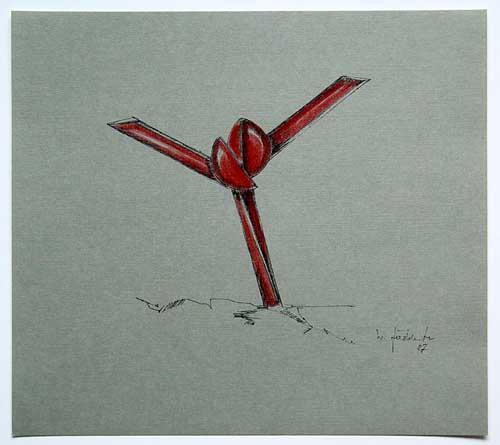 Wolfgang Göddertz - Raumverknotung 11 - handkolorierte Lithographie aus dem Jahr 1987 - handsigniert kopen? Bied vanaf 50!