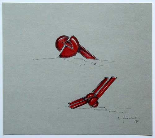 Wolfgang Göddertz - Raumverknotung 12 - handkolorierte Lithographie aus dem Jahr 1987 - handsigniert kopen? Bied vanaf 50!