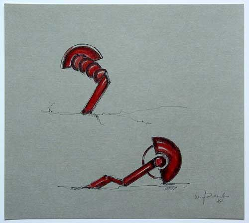 Wolfgang Göddertz - Raumverknotung 13 - handkolorierte Lithographie aus dem Jahr 1987 - handsigniert kopen? Bied vanaf 50!