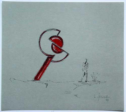 Wolfgang Göddertz - Raumverknotung 14 - handkolorierte Lithographie aus dem Jahr 1987 - handsigniert kopen? Bied vanaf 50!