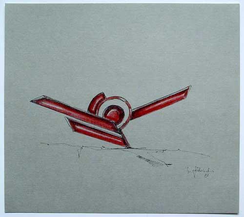 Wolfgang Göddertz - Raumverknotung 2 - handkolorierte Lithographie aus dem Jahr 1987 - handsigniert kopen? Bied vanaf 50!