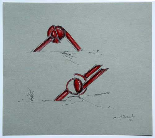 Wolfgang Göddertz - Raumverknotung 3 - handkolorierte Lithographie aus dem Jahr 1987 - handsigniert kopen? Bied vanaf 50!
