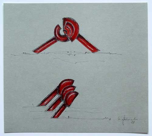Wolfgang Göddertz - Raumverknotung 7 - handkolorierte Lithographie aus dem Jahr 1987 - handsigniert kopen? Bied vanaf 50!