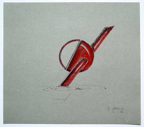 Wolfgang Göddertz - Raumverknotung 8 - handkolorierte Lithographie aus dem Jahr 1987 - handsigniert kopen? Bied vanaf 50!