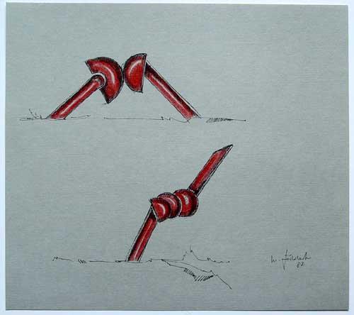 Wolfgang Göddertz - Raumverknotung 9 - handkolorierte Lithographie aus dem Jahr 1987 - handsigniert kopen? Bied vanaf 50!