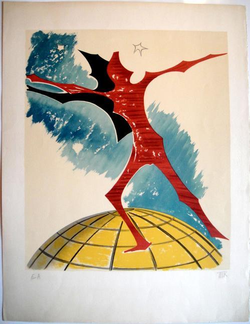 Man Ray - Rebus - Originale handsignierte Farblithografie von 1972 kopen? Bied vanaf 590!