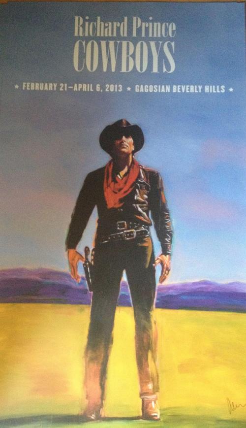 Richard Prince - Richard Prince handsigniertes Grossplakat Cowboys kopen? Bied vanaf 750!