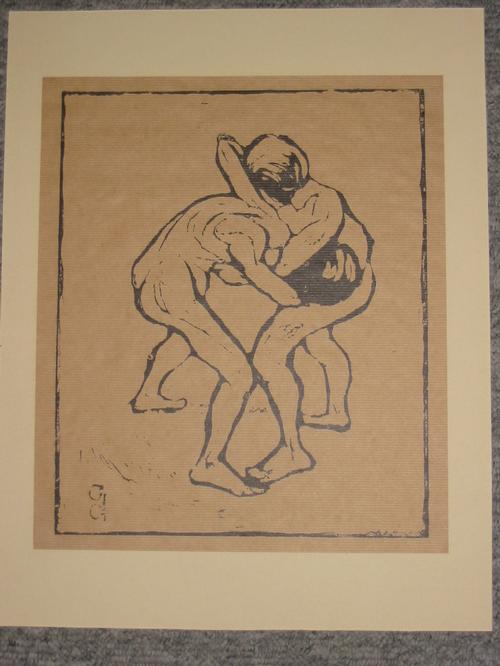 Giovanni Giacometti - Ringende Knaben Holzschnitt im Stock monogrammiert kopen? Bied vanaf 2000!