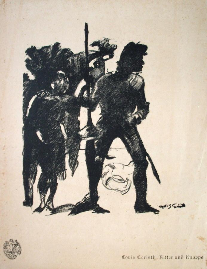 Lovis Corinth - Ritter und Knappe 1916 kopen? Bied vanaf 190!