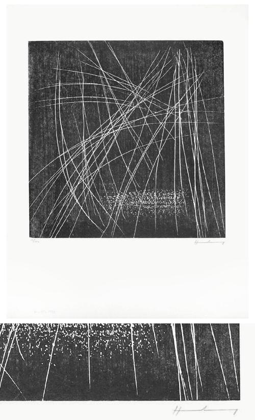 Hans Hartung - RMM 388. Holzschnitt, 1973. kopen? Bied vanaf 440!