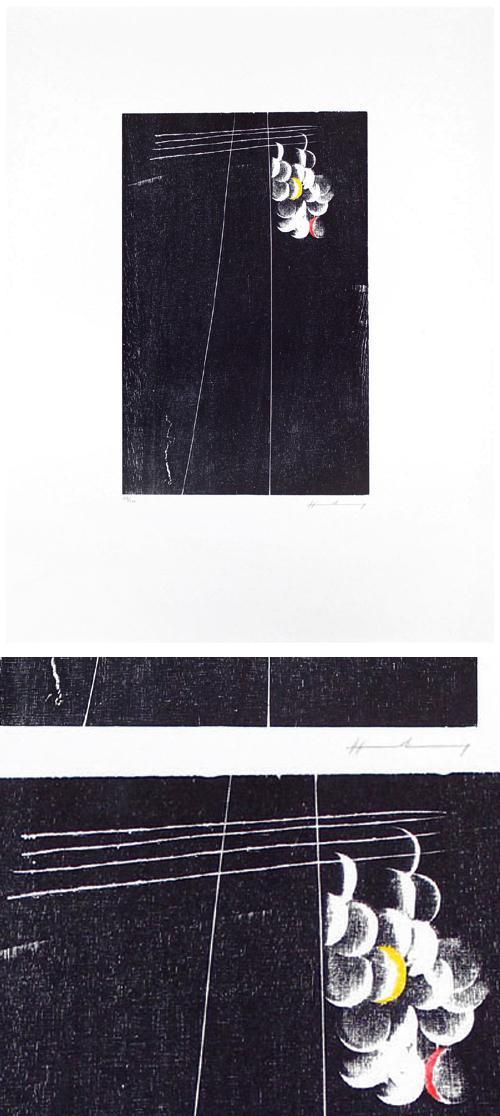 Hans Hartung - RMM 393. Farbholzschnitt, 1973. kopen? Bied vanaf 440!