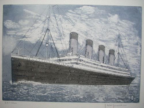 Herbert Grunwaldt - R.M.S. TITANIC, Original-Farbradierung aus dem Jahr 2000, handsigniert, datiert und betitelt kopen? Bied vanaf 125!