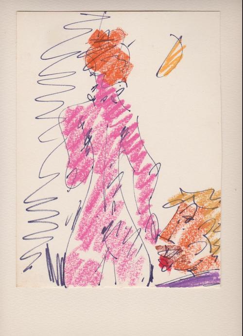 Roland Frenzel - Roland Frenzel, Weiblicher Akt, um 1980, Fettstift /Tusche kopen? Bied vanaf 120!