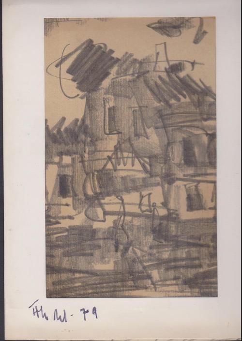 Roland Frenzel - Roland Frenzel, Zeichnung Tusche / Kohle, 1979, Connewitz kopen? Bied vanaf 140!