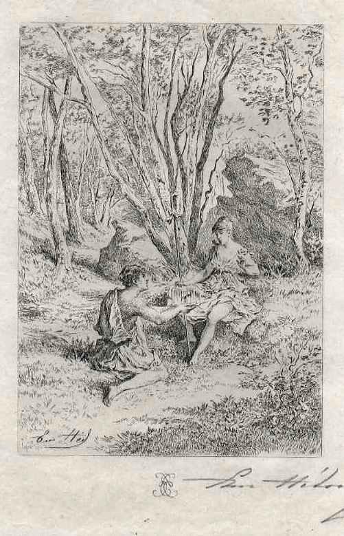 Edmond Hèdouin - ROMANTISCHE WALDESLUST - Handsignierte OriginalRadierung - EauForte Originale signée au crayon kopen? Bied vanaf 39!