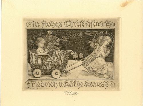 Rudolf Schiestl - Rudolf Schiestl Ein frohes Christfest Signierte Radierung kopen? Bied vanaf 230!