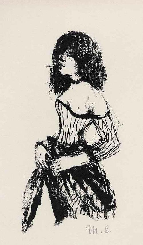Mia Lederer - RUF der STRASSE - signiertes Portrait einer jungen Frau von der KOPENHAGENgeb.BERLINer ILLUSTRATORIN kopen? Bied vanaf 55!