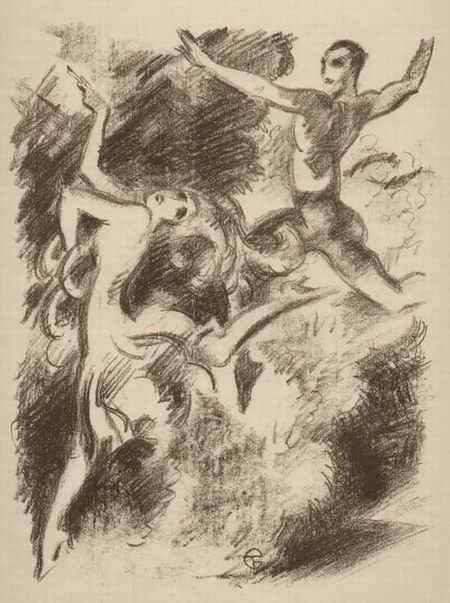 Gino Von Finetti - - RUSSISCHES BALLETT - OriginalLithographie des MÜNCHNER JUGEND-Illustratoren aus BERLIN - 1925 kopen? Bied vanaf 68!