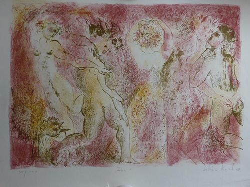 "Sabine Franek - Koch - Sabine Franek-Koch, Original Farblithographie, ""Fries"", sign. und numm. kopen? Bied vanaf 65!"