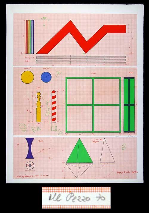 Lucio del Pezzo - Sagittarius - Farblithographie 1970 - handsigniert und nummeriert - 14/100 kopen? Bied vanaf 160!