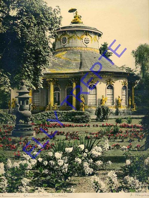 Elly Trepte - SANSSOUCI - CHINESISCHES TEEHAUS - Handcolorierte handsignierte REPRÄSENTATIVE OriginalFotographie kopen? Bied vanaf 140!