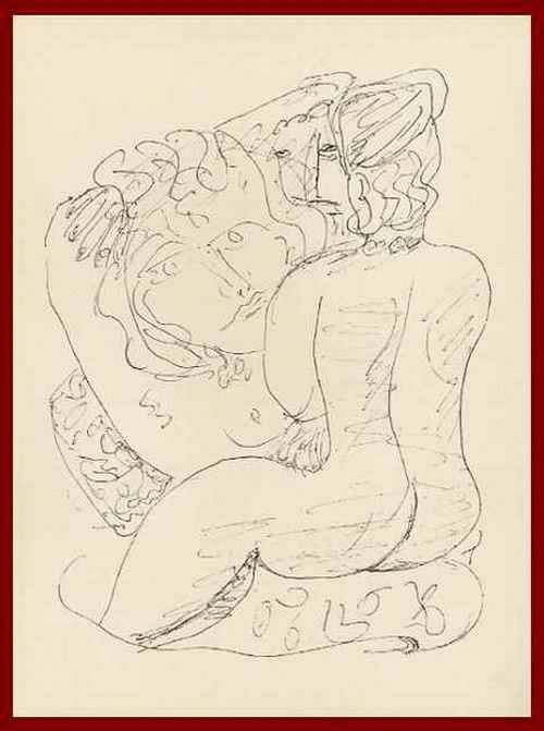 Max Beckmann - SARDANAPAL - WEIBLICHER AKT - OriginalHolzstich zu FAUST - 1957 - mit Prägestempel d.Blattnr.24 kopen? Bied vanaf 54!