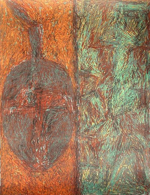 Cynthia Gallagher - - SAVANNAH´S POT - großformatige graf. Mischtechnik auf Bütten, handsigniert, 1988, numeriert. kopen? Bied vanaf 240!