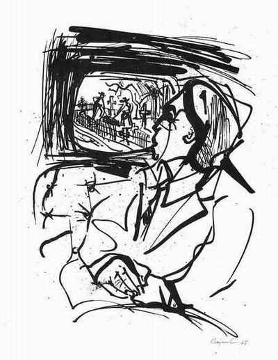 Archibald Bajorat - SCHAU HEIMWÄRTS ENGEL - v. Thomas Wolfe - 1965 handsigniert & datiert - MÜLLER-LINOW-Schüler - kopen? Bied vanaf 30!