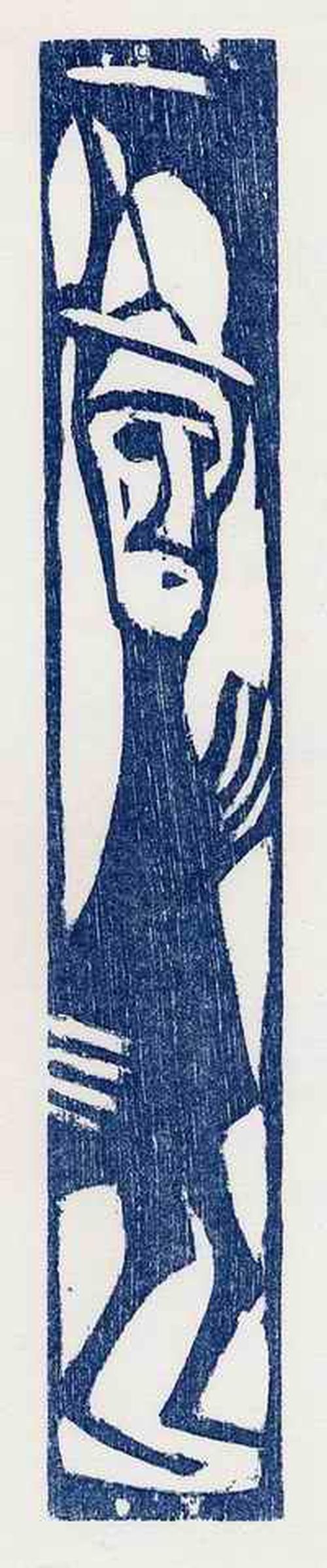 Christan Rohlfs - SCHMALES MÄNNCHEN 1922 OriginalHolzschnitt des ENTARTETEN EXPRESSIONISTEN d.PREUßISCHEN AKADEMIE Bln kopen? Bied vanaf 48!