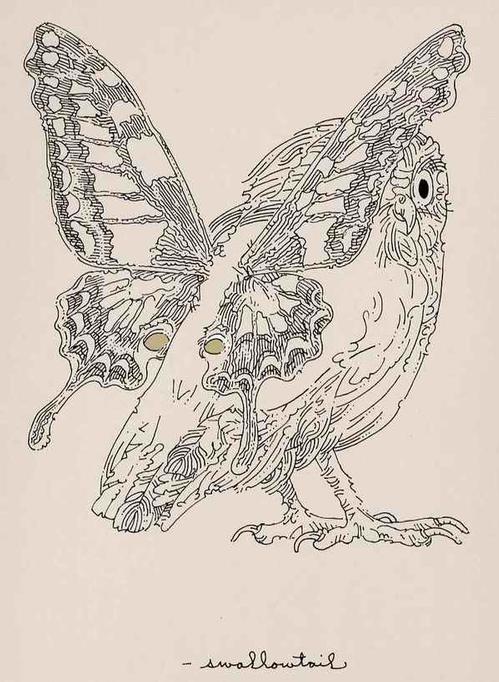 William Crutchfield - SCHMETTERLINGS-EULE - Handsigned Original Silkscreen 1970 - Artistproof (John Herron School of Art) kopen? Bied vanaf 36!
