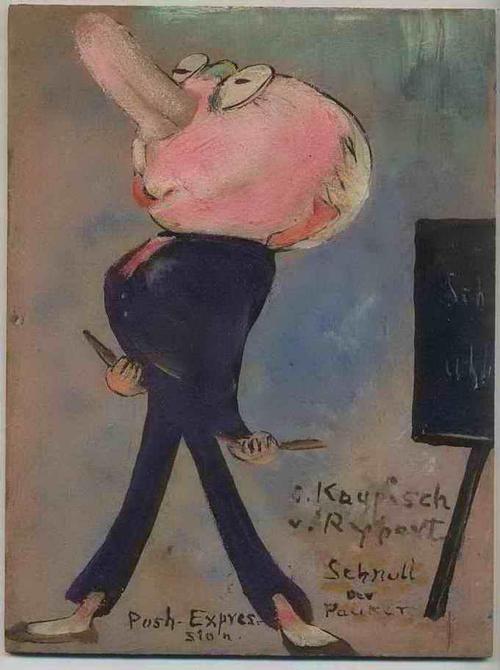 Irmgard Kaupisch von Reppert - SCHNULL der PAUKER - Original Ölmalerei der KARIKATURISTIN aus MÜNCHEN - Signiert ( Die KATAKOMBE ) kopen? Bied vanaf 120!