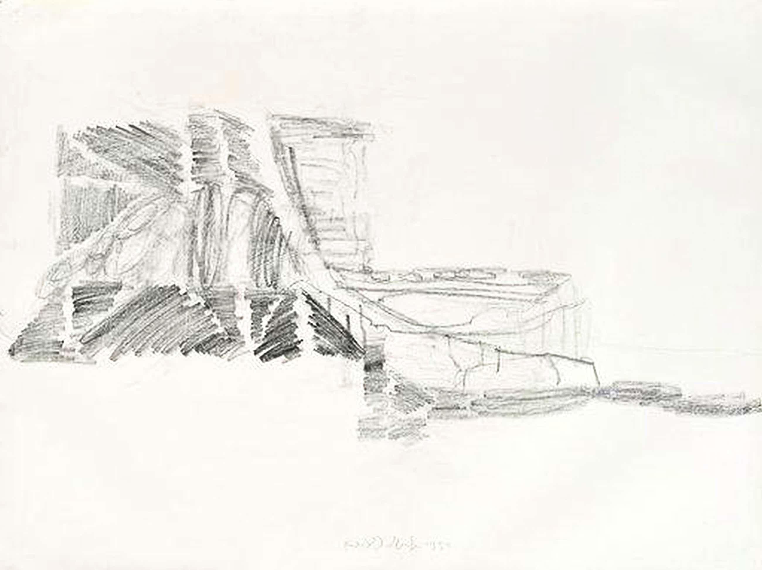 Rudolf Schoofs - Ohne Titel (Architekturfragment) kopen? Bied vanaf 275!