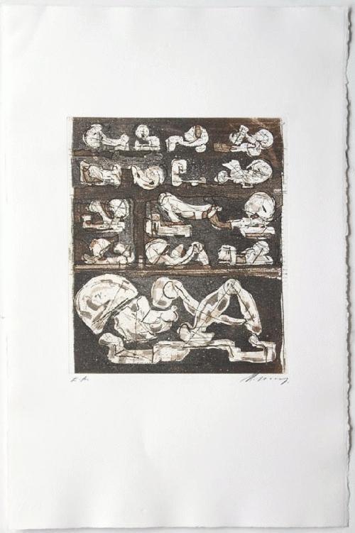 Rudolf Hoflehner - - SECHZEHN SKIZZEN - Radierung auf Bütten, handsigniert, bezeichnet, 19566 kopen? Bied vanaf 390!