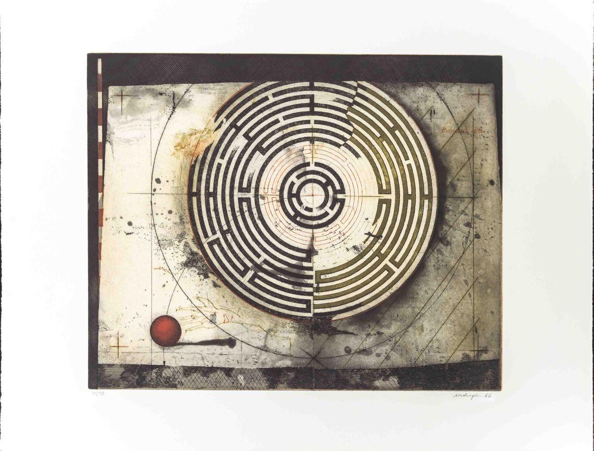 Friedrich Meckseper - Sehr schöne frühe Arbeit in sehr guter Erhaltung, von 1966. Handsigniert u. nummeriert. kopen? Bied vanaf 440!