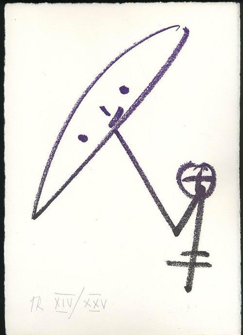 Hacky Ritzerfeld - SELBSBILDNIS als UFO - Handsigniertes OriginalLithokat des BEUYS Meisterschülers a.d.Akad.DÜSSELDORF kopen? Bied vanaf 45!