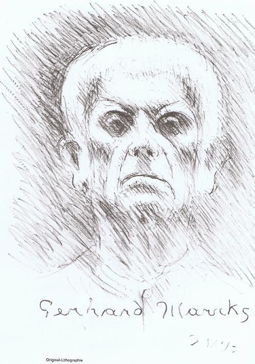 Gerhard Marcks - Selbstbildnis,Lithographie,1974 kopen? Bied vanaf 28!