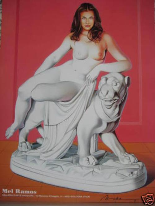 Mel Ramos - Seltenes Ausstellungsplakat. Handsigniert. kopen? Bied vanaf 180!