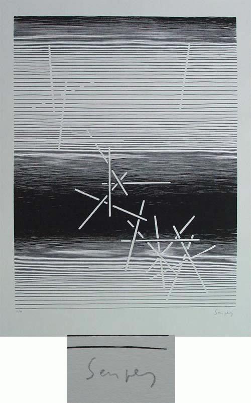 Michel Seuphor - Serigrafie, handsigniert, numeriert, 1961 kopen? Bied vanaf 390!