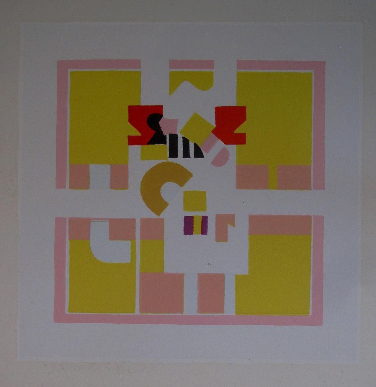 Friedrich Sieber - SERIGRAPHIE , signiert 1966 . kopen? Bied vanaf 80!