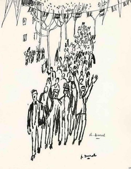 Auguste Durel - SIEGESLAUNE - 1963 Handsigniert Druckgraphik des ORIENTALISTEN aus PARIS (ARCHES-BÜTTEN) kopen? Bied vanaf 35!