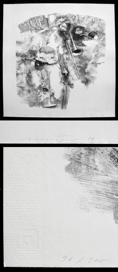 Rolf Münzner - Signierte Lithographie, 1988. kopen? Bied vanaf 165!