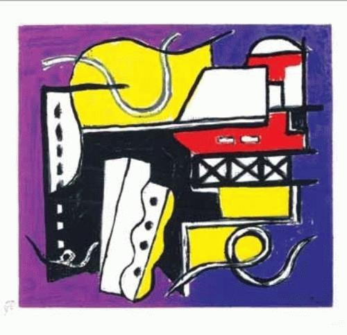 Fernand Leger - silkscreen in colors on wove paper,1954 kopen? Bied vanaf 250!