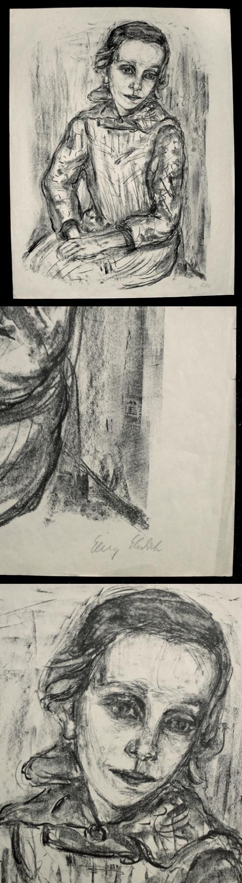 Georg Ehrlich - Sitzendes Mädchen (Elisabeth Bergner), signierte Lithographie. kopen? Bied vanaf 260!