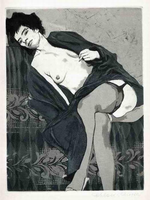 Eberhard Schlotter - SO GÖNNE MIR DIE LUST - Erotische OriginalRadierung aus dem CELANDER Zyklus 1964 handsigniert kopen? Bied vanaf 120!